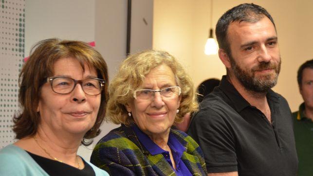 Az Ahora Madrid listavezetői, középen a leendő polgármester asszony, Manuela Carmena