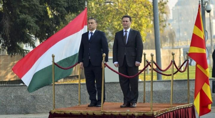 Orbán Viktor látogatóban Nikola Gruevszkinél 2013-ban. A két miniszterelnök között baráti a viszony. Fotó: Miniszterelnöki Sajtóiroda/MTI/Burger Barna