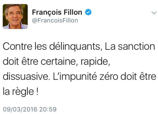"""Fillon egy régi tweetje, amely ma kissé másképp cseng: """"A"""