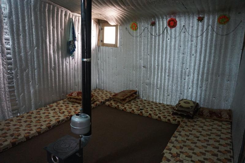 Így néz ki egy sátor belülről. Fotó: Sipos Zoltán