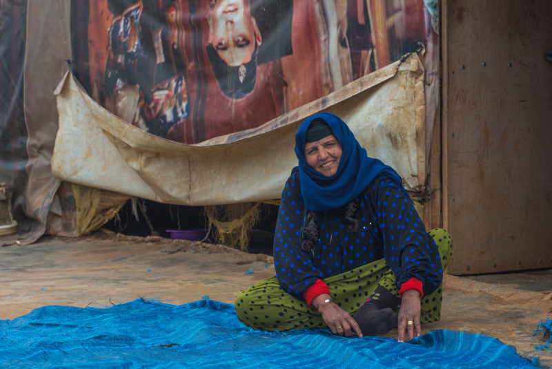 Menekült asszony valahol a Bekaa völgyében. ©EU/ECHO/PeterBiro