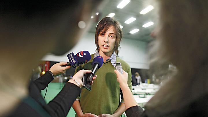 """A Kalózpárt kikosarazott """"természetes szövetségese"""": Matěj Stropnický, a Zöld Párt elnöke, Prága polgármester-helyettese. A Zöldek nem jutnának be a parlamentbe, a párt népszerűsége, október elején, 3 százalékon áll."""