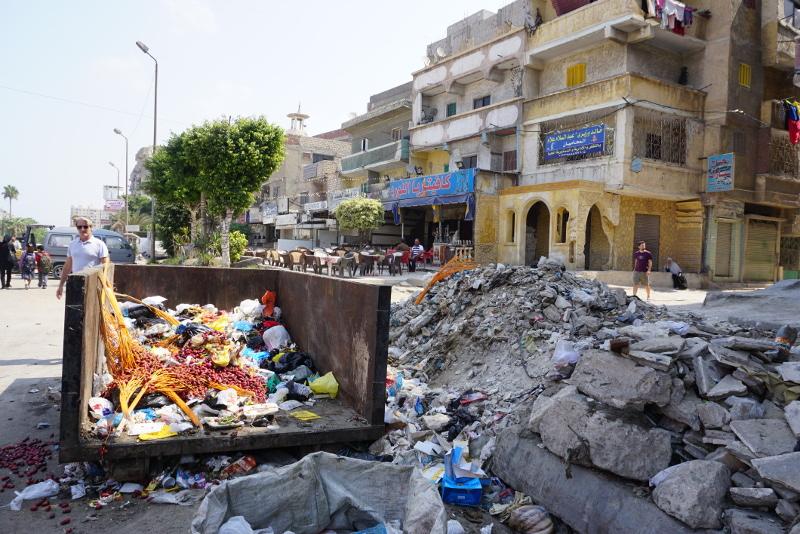 Utcakép Alexandria külvárosában. Fotó: Sipos Zoltán