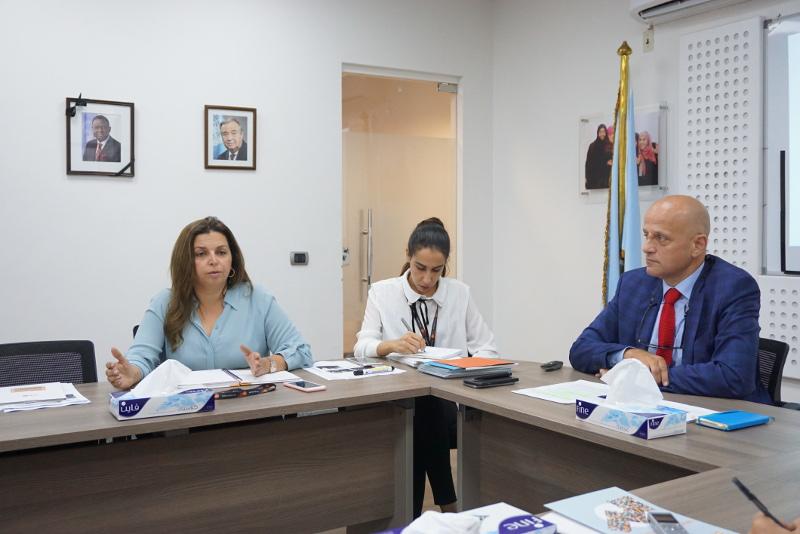 Sajtóbeszélgetés az ENSZ Népesedési Alapjánál (UNFPA). Fotó: Sipos Zoltán