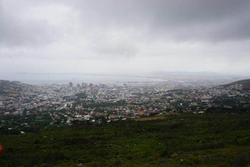 Kilátás a városra Table Mountain lábától. Egy-egy, tengeri kilátással rendelkező ház egészen elképesztő összegekért cserél gazdát