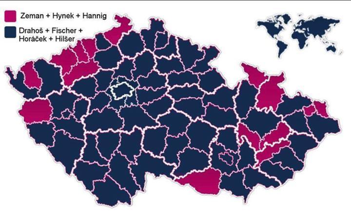 Drahos mögött felsorakozó jelöltek szavazataival többségbe kerülhet Csehországban a Zeman elnök leváltását akaró szavazótábor. Kép: idnes.cz