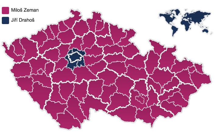 Zeman letarolta az országot, csak Prága és kürnyéke nem lett az övé. Kép: idnes.cz