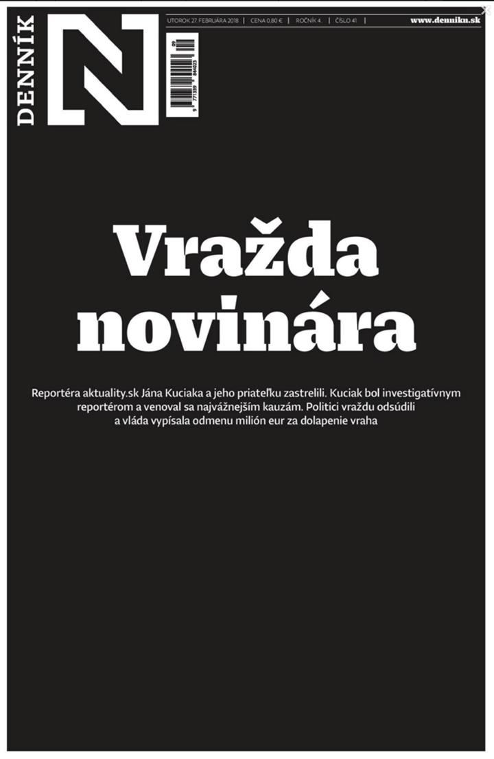 Dennik N: Egy újságíró meggyilkolása