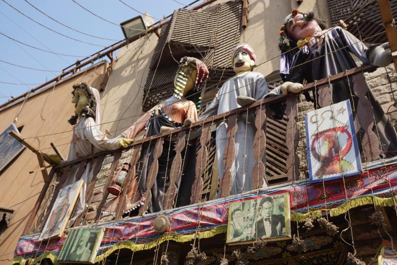 Rongybábuk egy teraszon Kairóban. Fotó: Sipos Zoltán