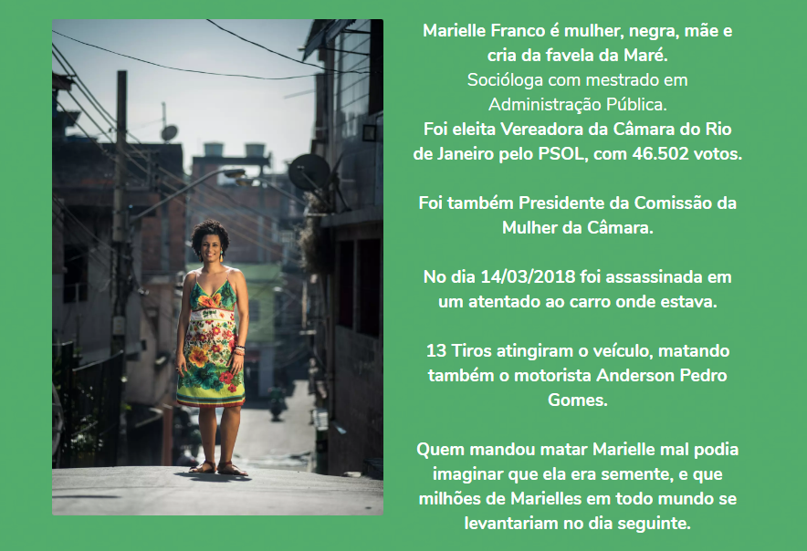 Marielle Franco weboldala