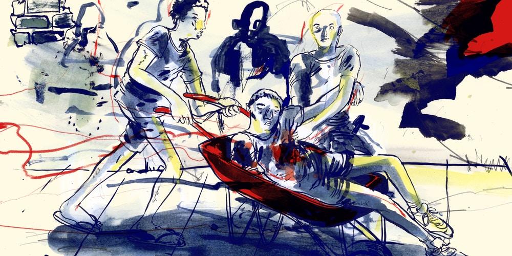 Illusztráció Melo meggyilkolásának történetéhez; Pedro Franz, The Intercept