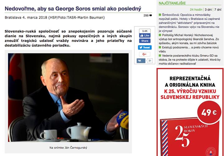 """Kép: """"Ne hagyjuk, hogy Soros nevessen a végén"""", Hlavné správy"""