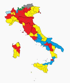 A 2013-as választásokon a megyék élén végző pártok; forrás: Wikipedia