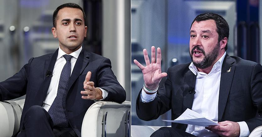 Luigi De Maio és Matteo Salvini