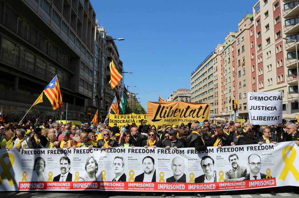 """Tüntetés április 15-én a """"politikai foglyok"""" szabadon engedéséért; Fotó: Facebook"""