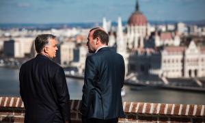 Orbán Viktor magyar miniszterelnök és Manfred Weber az Európai Néppárt (EPP) képviselő-csoportjának elnöke Budapesten tárgyal 2019 március 12-én a Fidesz esetleges kizárásáról.