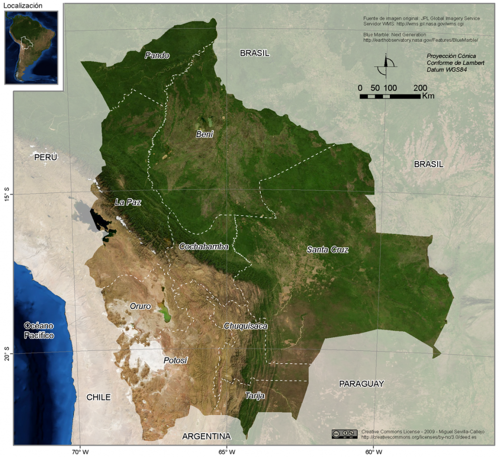 Bolívia földrajza