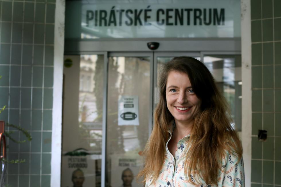 Adela Šípová (Kalózpárt) Fotó: Denník N.