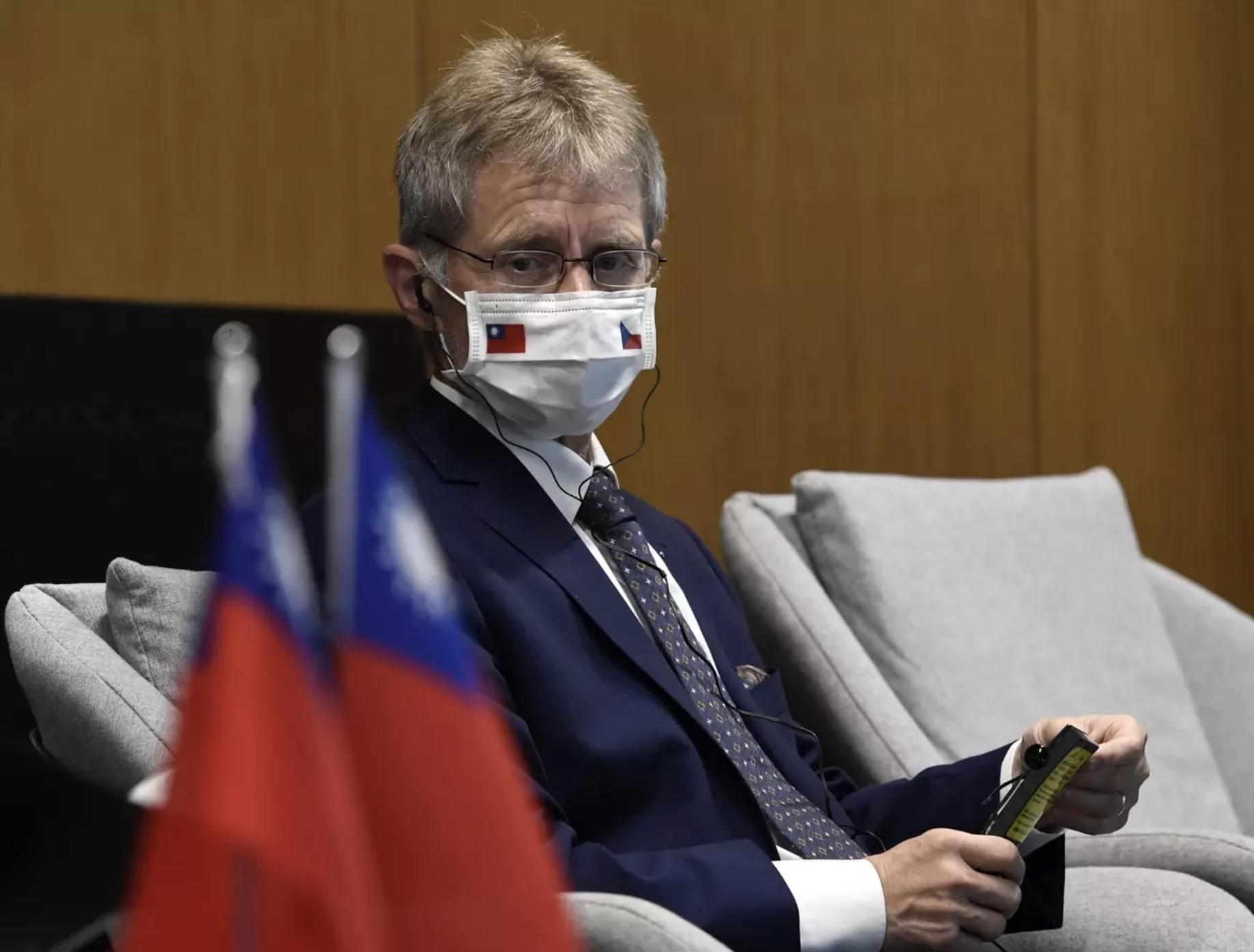 Miloš Vystrčil a cseh szenátus elnöke 2020 szeptember 4-én Tajpejben meglátogatta a Tajvani Tech Aréna innovációs központot. Fotó: Michal Krumpganzl, ČTK